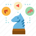 advertisement, business, chess, horse, plan, strategy icon