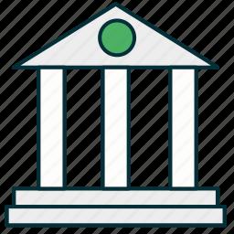 bank, banking, banking house, business, finance, money, money storage icon