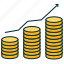 coints, deposit, earnings growth, income growth, increase in profits, money icon