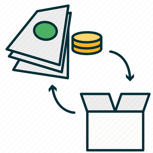 acquisition, buy, exchange, money, purchase, sale, selling icon