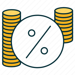 chalk, credit, interest, jawbone, percent, rate, trust icon