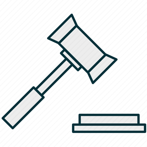 business, decision, gavel, judgment, law, lawsuit icon