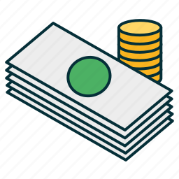 cash, coints, currency, dollars, euro, money icon
