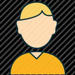 avatar, blond, buyer, dealer, person, user icon