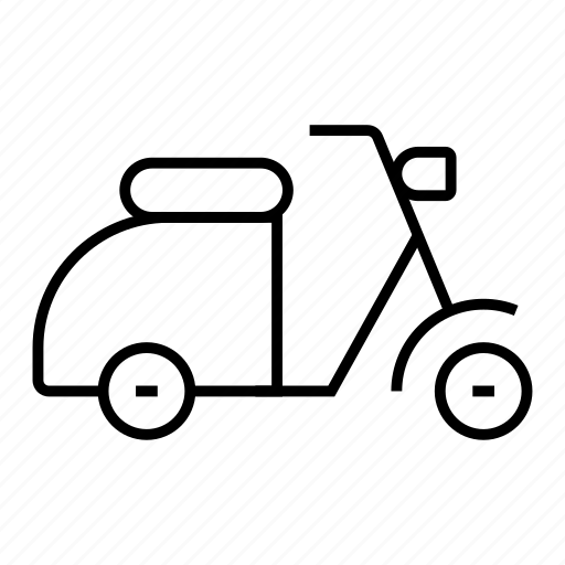 bike, deliveryscooter, motorbike, motorcycle, scooter, transport, vespa icon