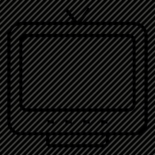 display, media, monitor, screen, television, tv, tvantenna icon