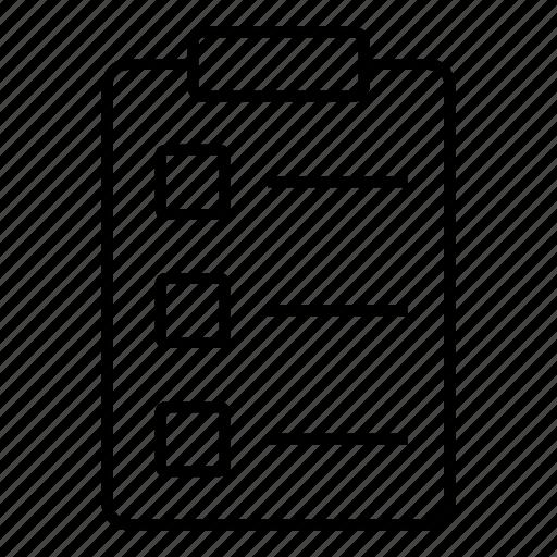 checkbox, checklist, compliance, document, mark, ok, tick icon