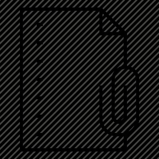 attachment, document, extension, file, folder, format, paper icon
