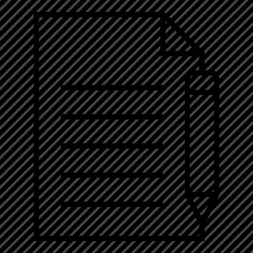 document, edit, editicon, extension, file, format, paper icon