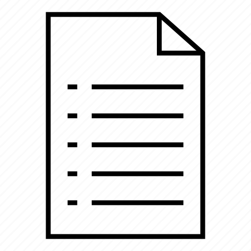 document, extension, field, file, filefolder, format, paper icon