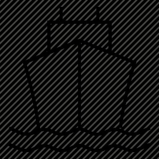 boat, cruise, delivery, sea, ship, shipwheel, transport icon