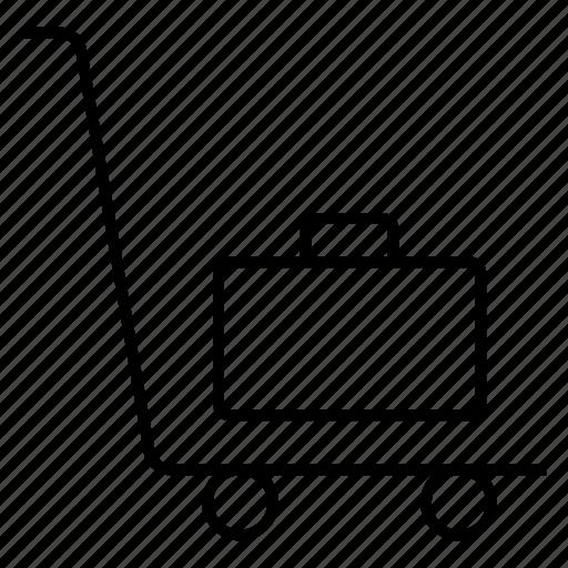 cart, ecommerce, luggage, shopping, shoppingcart, shoppingtrolly, trolley icon