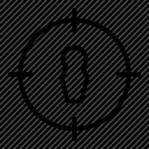 aim, focus, scope, sight, target group icon