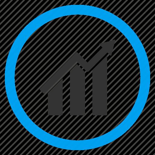 data analysis, diagram, graph, report, statistics, stats, trend chart icon