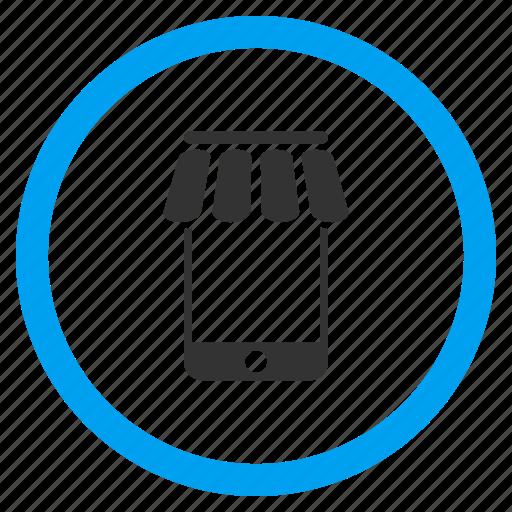 business, mobile market, store, trade, web shop, webshop, webstore icon