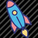 rocket, spacecraft, spaceship, startup icon