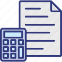accounting, audit, banking, calculating, finance icon