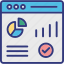 seo analysis, seo graph, seo optimization, seo performance icon