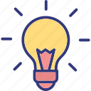 idea, inspiration, light bulb, luminaire icon