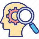 critical thinking, criticism, feedback, key points icon