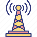 signal tower, wifi hotspot tower, wifi tower, wireless antenna icon