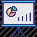 business analytics, data analysis, financial growth, statistical presentation icon