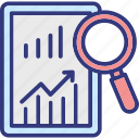 analysis, business solutions, market analysis, market intelligence icon