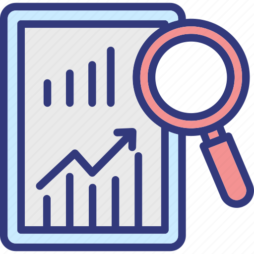 analysis, business solutions, market analysis, market intelligence icon