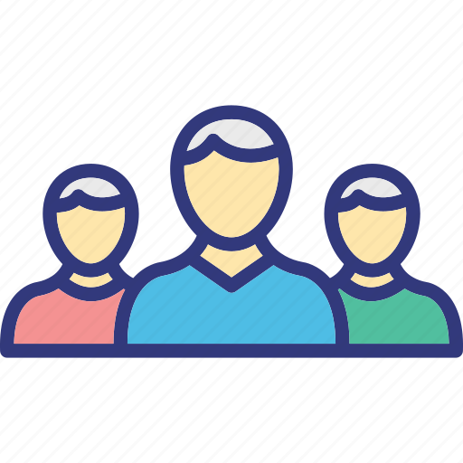 business team, management, organization, people icon