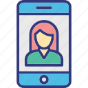 communication, monitor, video call, video chat icon