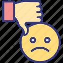 bad feedback, customer review, dislike, negative feedback icon