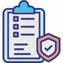 agreement protection, confidential document, insurance policy, patent application icon