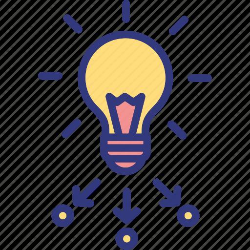 marketing, organization, project management, resource allocation icon