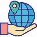 geolocation, global locating service, gps, navigation icon