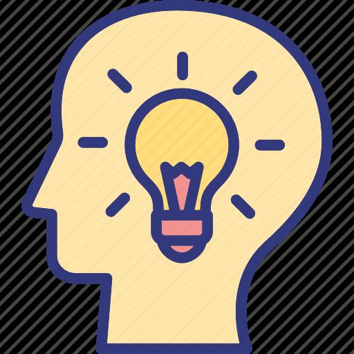 brain capability, brainstorming, innovation, mental power icon
