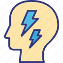 brain power, cognitive development, intelligent, mental power icon