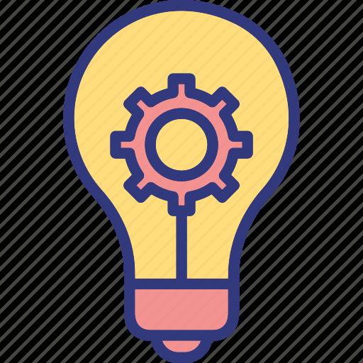 creativity processing, idea management, innovation, inspiring idea icon