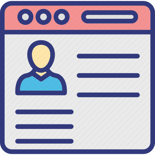 online profile, social media, social networking, social website icon