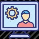 compensation management, hr management, human resources, human resources information system icon