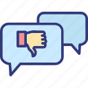bad feedback, customer review, negative feedback, negative opinion icon