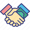 agreement, business deal, contract, money handshaking icon