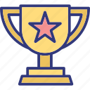 best performance award, championship, cup, gold trophy icon
