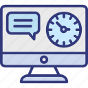 late for work, procrastination concept, responsive timeout, time late busines icon