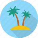 beach, island, sea, travel, vacation icon