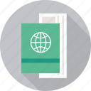 air ticket, id, identity, passport, ticket, travel document icon
