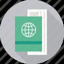 air ticket, passport, travel document, id, identity, ticket