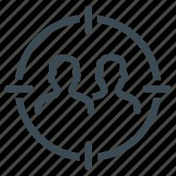 audience, costomer, customer target, group, target, team icon