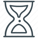 hourglass, loading, sand watch icon