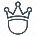 crown, premium, victory icon