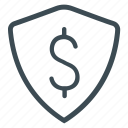 bank, financial protected, money, protected, protection, shield icon
